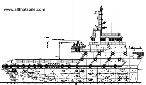 60M DP2 ASD Anchor Handling Tug Supply Vessel