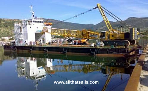 60M Crane Barge For Sale