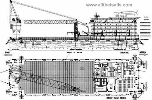 400 Pax Accommodation Work Barge For Sale