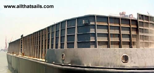 88M Deck Cargo Barge with Side Walls For Sale