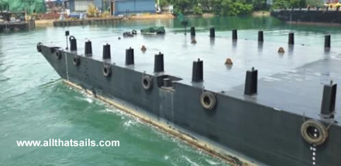 70M Flat Top Deck Cargo & Ballast Tank Barge For Sale
