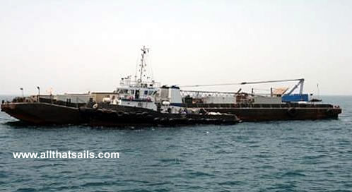 63M Accommodation / Crane Barge For Charter