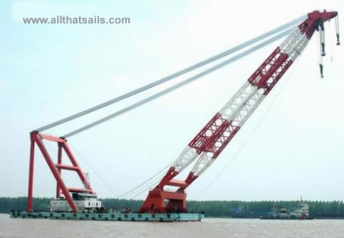 86M Self Propelled Floating Crane Barge for Sale