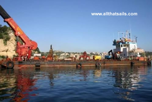 36M Length Self Propelled Pontoon Barge For Sale