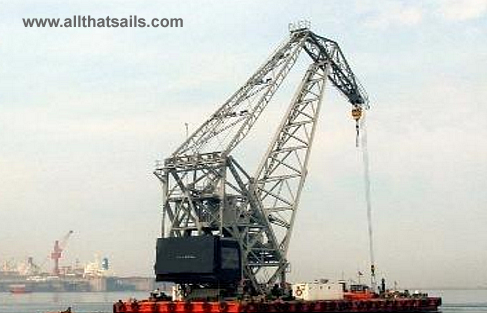 40M Self Propelled Crane Barge For Sale