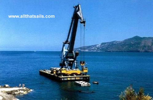 46M Self-Propelled Crane Barge For Sale