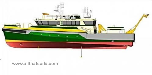 34.5m Hybrid Survey/ROV Support Vessel For Charter